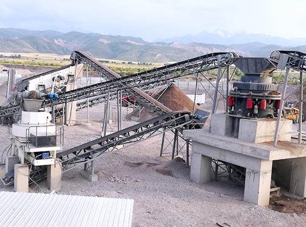 安徽滁州时产200吨花岗岩制砂生产线