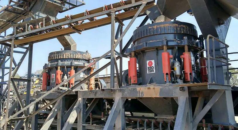 湖北黄冈时产280吨时产玄武岩破碎生产线
