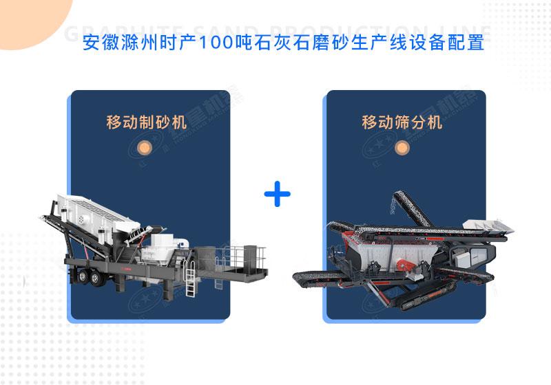 安徽滁州时产100吨石灰石磨砂生产线